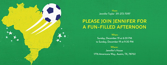 Brazil Soccer Invitation