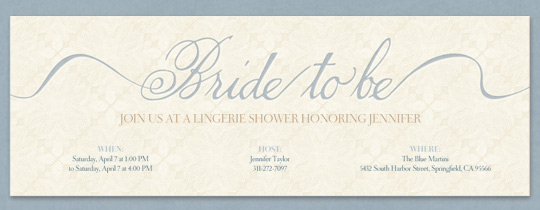 Bride to Be Invitation