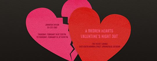 Broken Heart Invitation