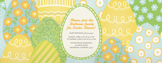 Bunch of Eggs Invitation