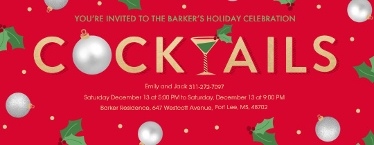 Christmas Cocktails Invitation