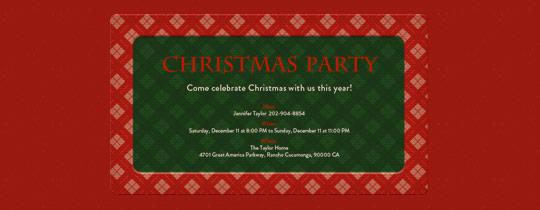Christmas Plaid Invitation