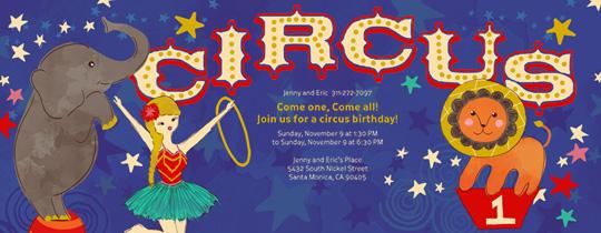 Circus Circus Invitation