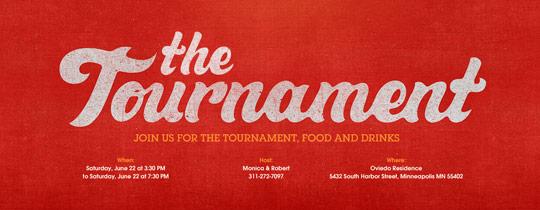 College Tournament Invitation