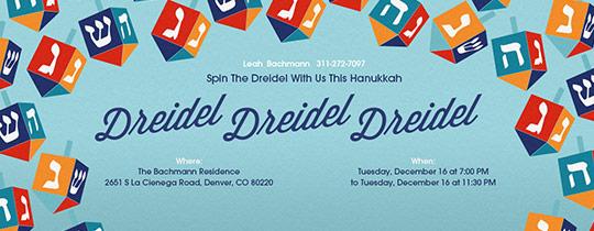 Hanukkah Free Online Invitations Evite Com