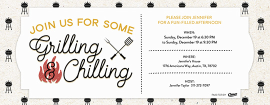 Grilling & Chilling Invitation