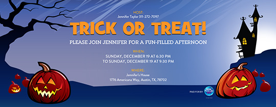 party time invitation - Evite Halloween Party