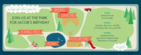 Day at the Park Invitation