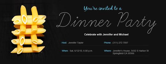 Dinner Penne Invitation