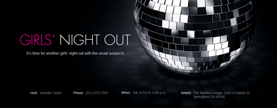 Disco Ball Invitation