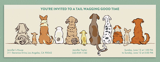 Dogtastic Invitation