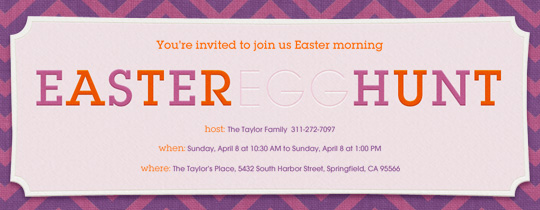 Easter Hunting Invitation
