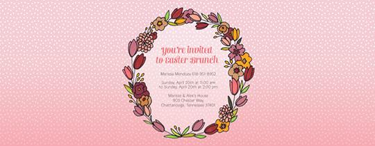 Easter Wreath Invitation