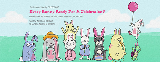 Every Bunny Ready Invitation