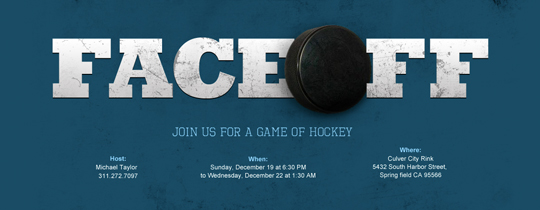 Face Off Invitation