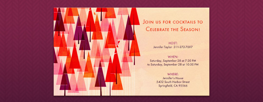 Fall Forest Invitation