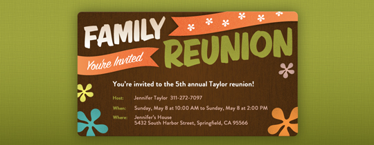 Amazing Free Printable Family Reunion Invitations  Free Printable Family Reunion Templates