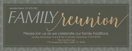 Family Reunion Invite Invitation