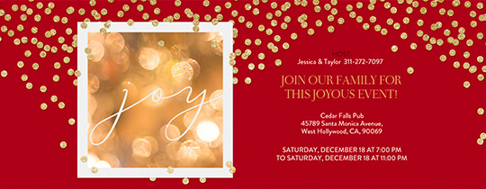 Confetti and Joy Invitation