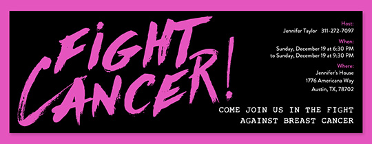 Fight Cancer Invitation
