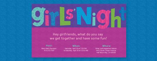 Fun Girls' Night Invitation