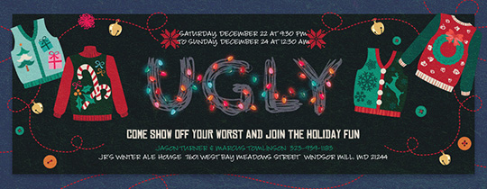 Get Ugly Sweaters Invitation