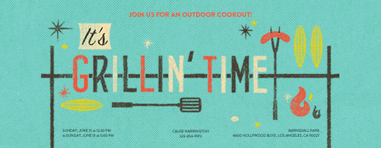 online backyard barbecue - bbq - invitations