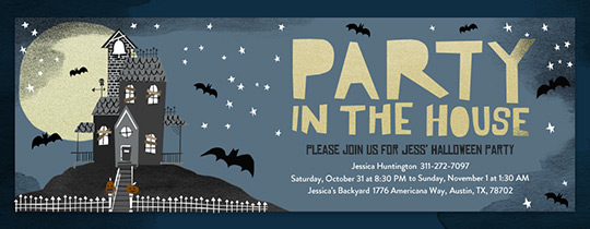 halloween house party invitation free - Free Halloween Invite Templates
