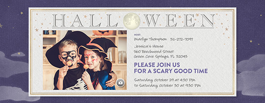 Halloween Moon Invitation
