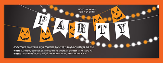Halloween String Lights Invitation
