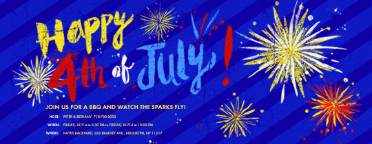 Happy Fireworks Invitation