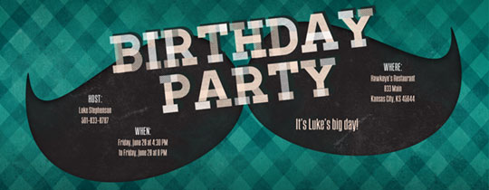 Hipster Birthday Invitation