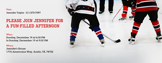 photo regarding Hockey Skate Template Free Printable titled Invites, Free of charge eCards and Social gathering Coming up with Options in opposition to Evite