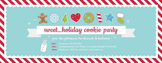 Holiday Cookie Party Invitation