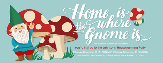 Home Gnome Invitation
