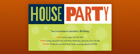 House Party free online invitations – Design Your Own Party Invitations Free Online