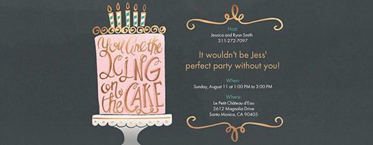 Icing on the Cake Invitation