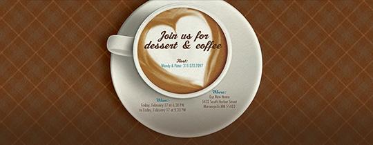 I Love Latte Invitation