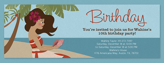 Island Girl Invitation