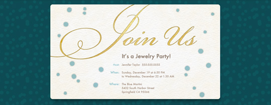 Join Us - Gold Invitation