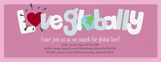 Love Globally Invitation