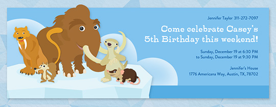 Mammoth and Friends Invitation