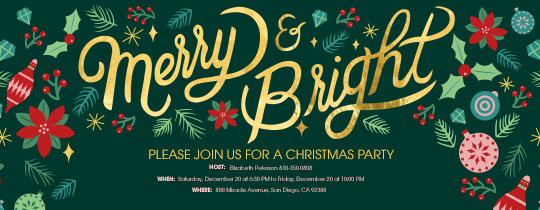 merry christmas party invitation