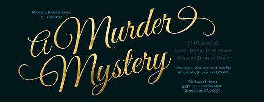 Murder Mystery Invitation