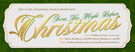 Night Before Christmas Invitation