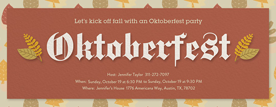 Oktoberfest Autumn Invitation