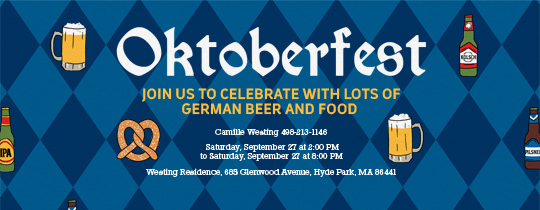 Oktoberfest Pattern Invitation