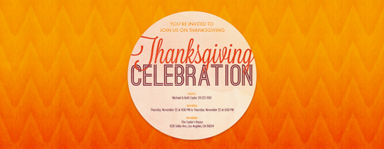Ombre Thanksgiving Invitation
