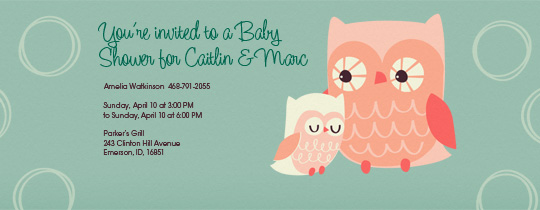 Owl Shower Invitation