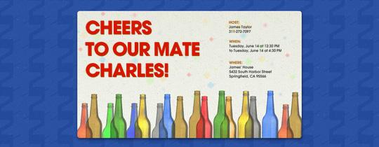 Party Bottles Invitation